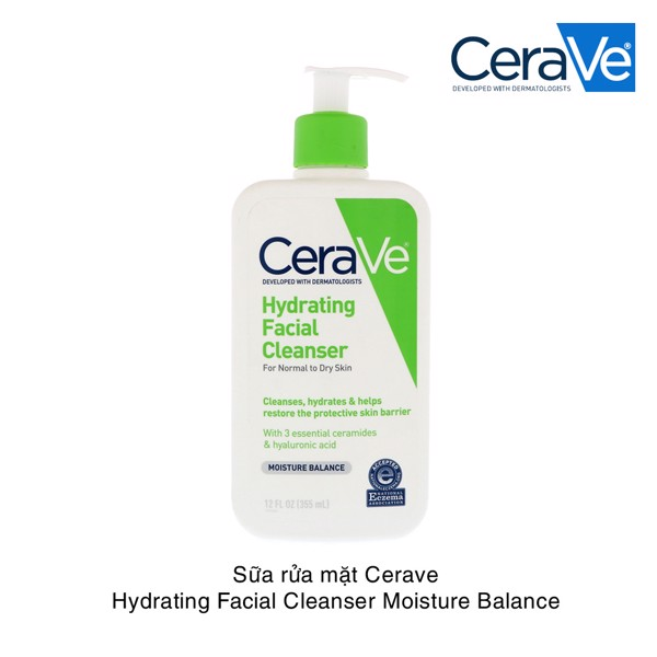 Sữa rửa mặt Cerave Hydrating Facial Cleanser Moisture Balance