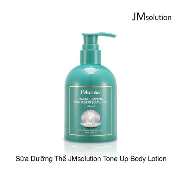 SỮA DƯỠNG THỂ JMSOLUTION MARINE LUMINOUS PEARL TONE UP BODY LOTION