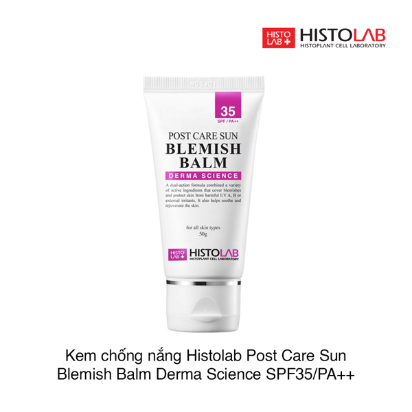 Kem chống nắng Histolab Post Care Sun Blemish Balm Derma Science SPF35 50g (Hộp)