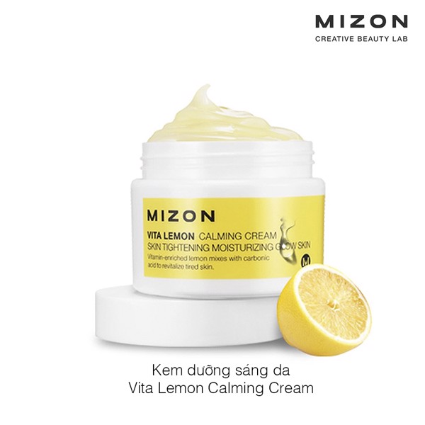 Kem dưỡng sáng da Mizon Vita Lemon Calming Cream Skin Tightening Moisturizing Glow Skin