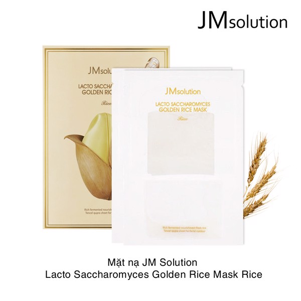 Mặt nạ JM Solution Lacto saccharomyces golden rice mask Rice