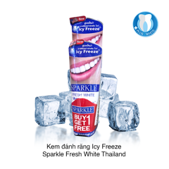Kem đánh răng Icy Freeze Sparkle Fresh White Thailan