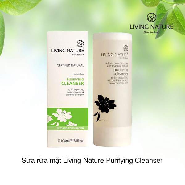 Sữa rửa mặt Living Nature Purifying Cleanser