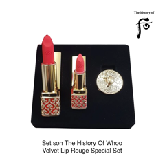 BỘ SON LÌ THE HISTORY OF WHOO – GONGJINHYANG:MI VELVET LIP ROUGE SPECIAL SET