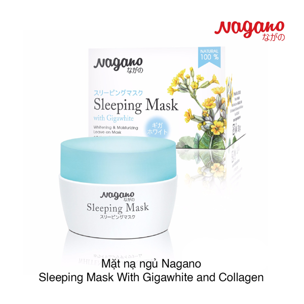 Mặt nạ ngủ Nagano Sleeping Mask With Gigawhite and Collagen