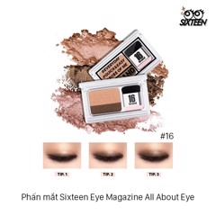 Phấn mắt Sixteen Eye Magazine All About Eye #16
