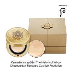 KEM TRANG ĐIỂM THE HISTORY OF WHOO CHEONYULDAN SIGNATURE CUSHION FOUDATION SPF35/PA++