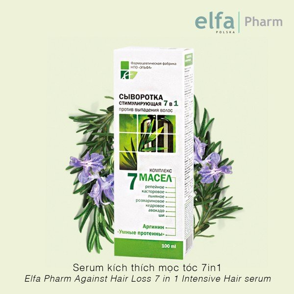 Serum chống rụng tóc 7 in 1 Elfa Pharm Against Hair Loss 7 in 1 Intensive Hair Serum