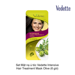 Set Mặt nạ ủ tóc Vedette Intensive Hair Treatment Mask Olive