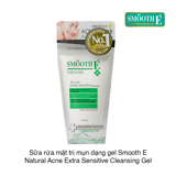 Gel rửa mặt Smooth E Natural Acne Extra Sensitive Cleansing Gel