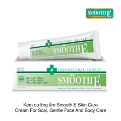 Kem dưỡng ẩm Smooth E Skin Care Cream For Scar, Gentle Face And Body Care