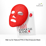 Mặt nạ So' Natural PH5.5 Red Ampoule Mask