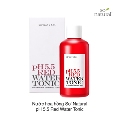 Nước hoa hồng So' Natural pH 5.5 Red Water Tonic