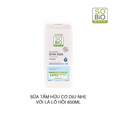 Sữa tắm dịu nhẹ So'Bio Etic Extra Gentle Aloe Vera Body Wash 650ml