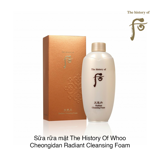 Sữa rữa mặt The History Of Whoo Cheongidan Radiant Cleansing Foam