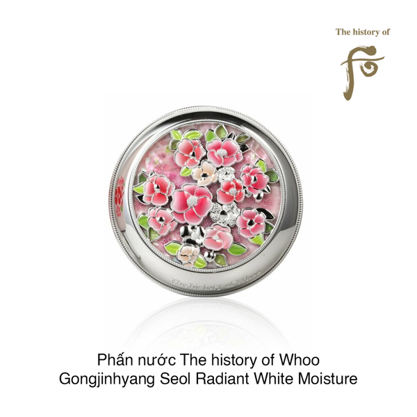 Phấn nước The history of Whoo Gongjinhyang Seol Radiant White Moisture Cushion Foundation SBF 50+/PA+++ #21 (Hộp)
