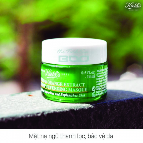 Mặt nạ ngủ thanh lọc Kiehl's Cilantro & Orange Extract Pollutant Defending Masque