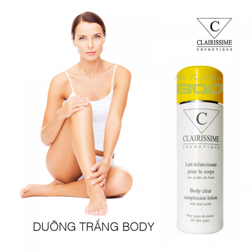 Dưỡng trắng da toàn thân Clairissime Body Clear Complexion Lotion With Fruit Acids