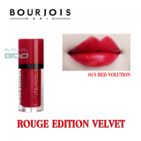 Son lì dạng kem Bourjois Rouge edition Velvet #15 Red Volution