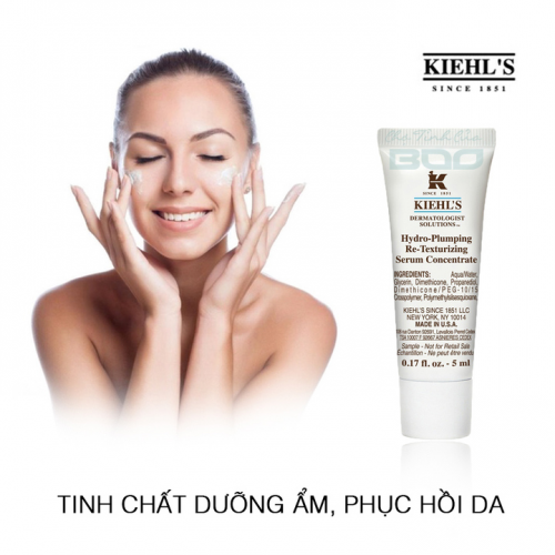Tinh chất dưỡng ẩm Kiehl's Hydro-Plumping Re-Texturizing Serum Concentrate