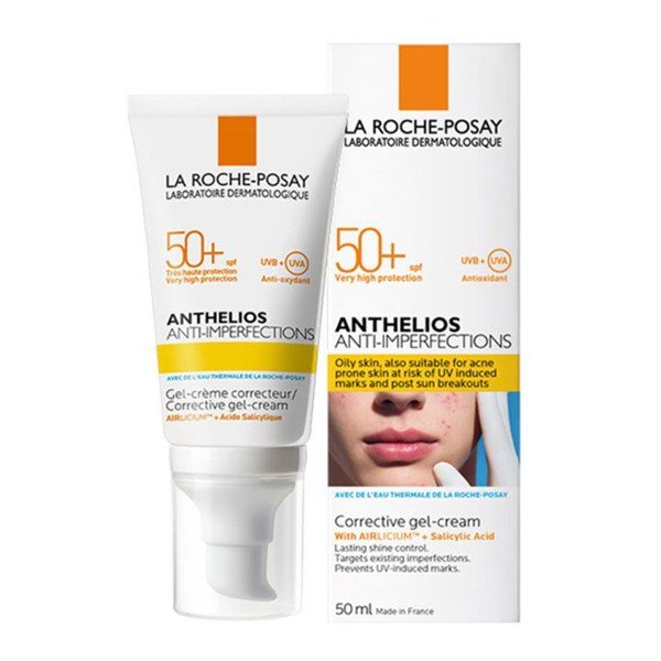 Kem chống nắng giảm nhờn mụn ANTHELIOS ANTI-IMPERFECTIONS La Roche Posay 50ML