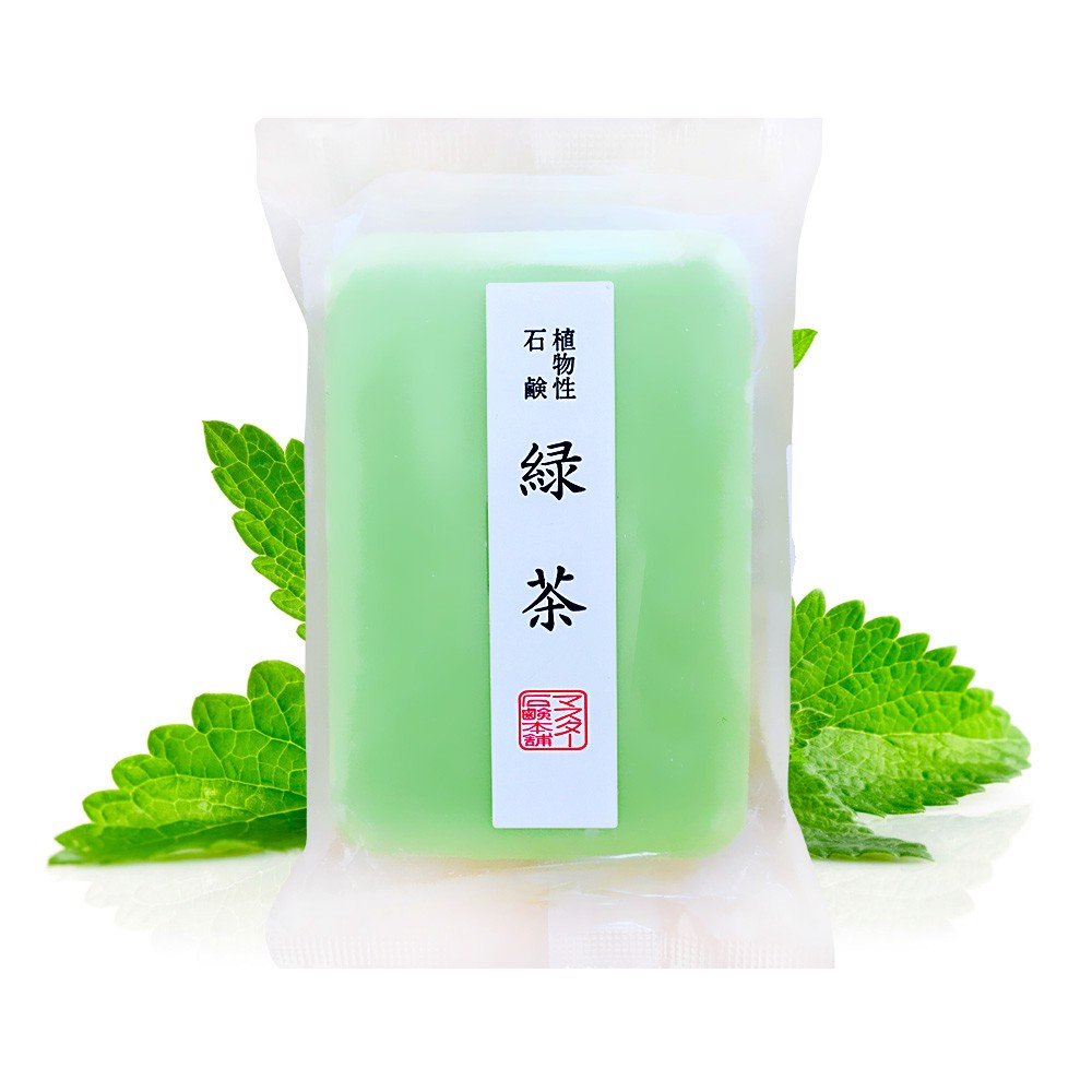 MASTER Green Tea 100% Vegetable-based Soap Bar with Squalene – Made in Japan