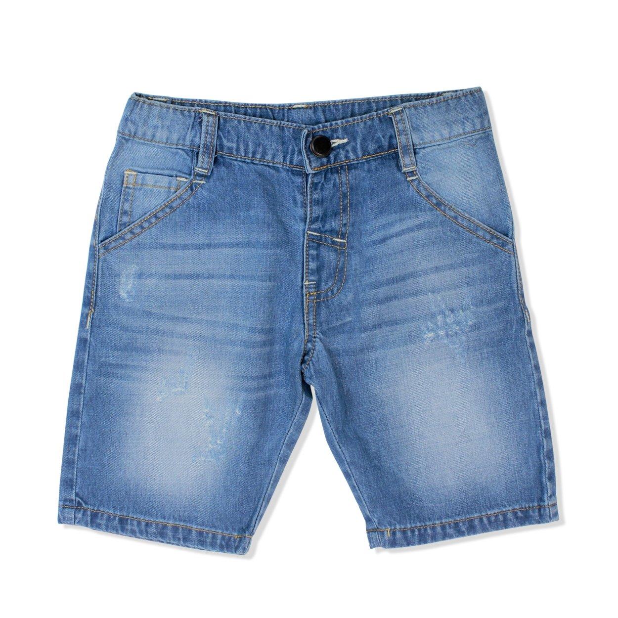 Quần Jeans bé trai ngắn B017003 (2T, Xanh jean)