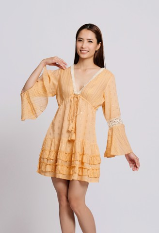 Đầm Boho Tay Lở Cut Out Savage Culture