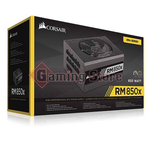Corsair RMx Series™ RM850x — 850 Watt 80 PLUS® Gold Certified Fully Modular PSU