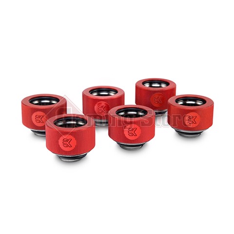 EK-ACF Fitting 10/13mm - Red (6-pack)