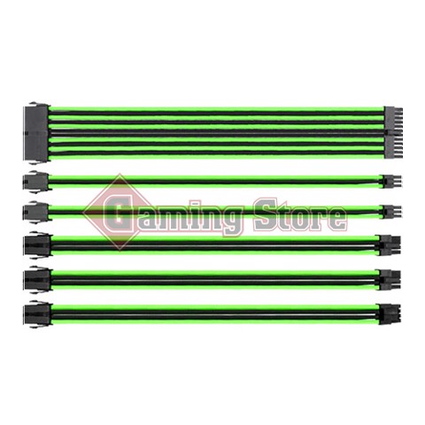 Thermaltake TtMod Sleeved Cable (Green/Black)