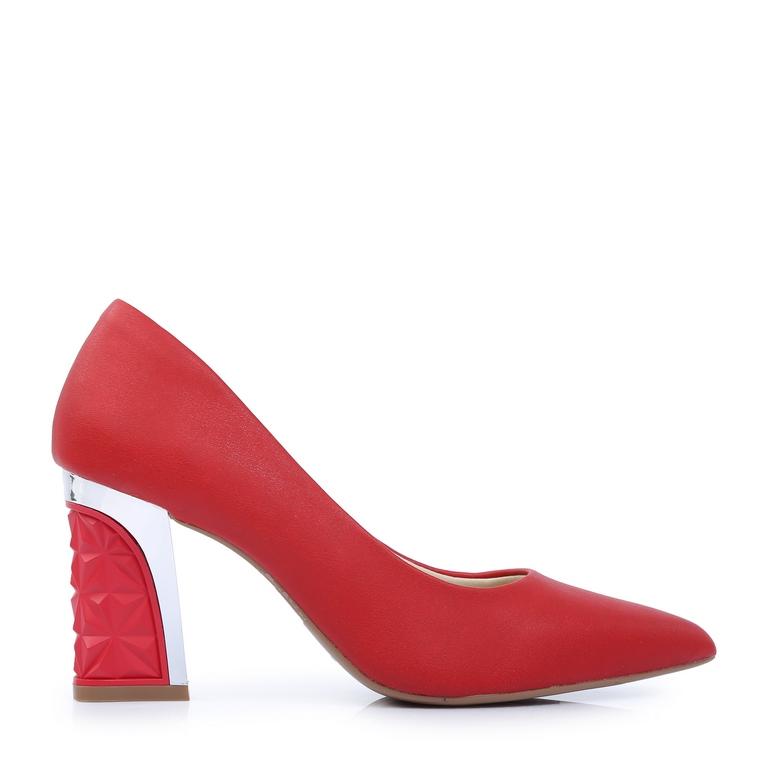 Giày cao gót đế vuông kiểu DP68 Đỏ