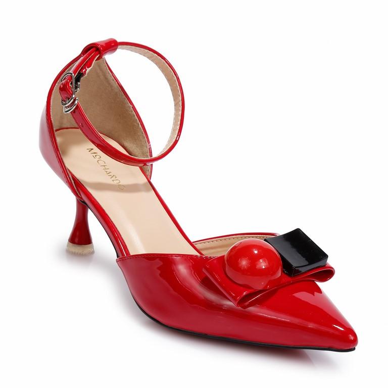 Giày CG Da Bóng Đính Khóa 3D F.11 Đỏ
