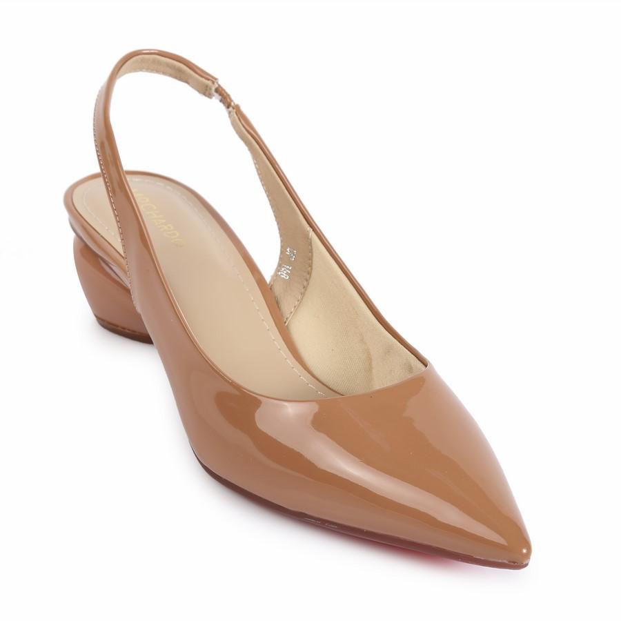Giày kiểu hở gót đế tròn HD-43 Kem