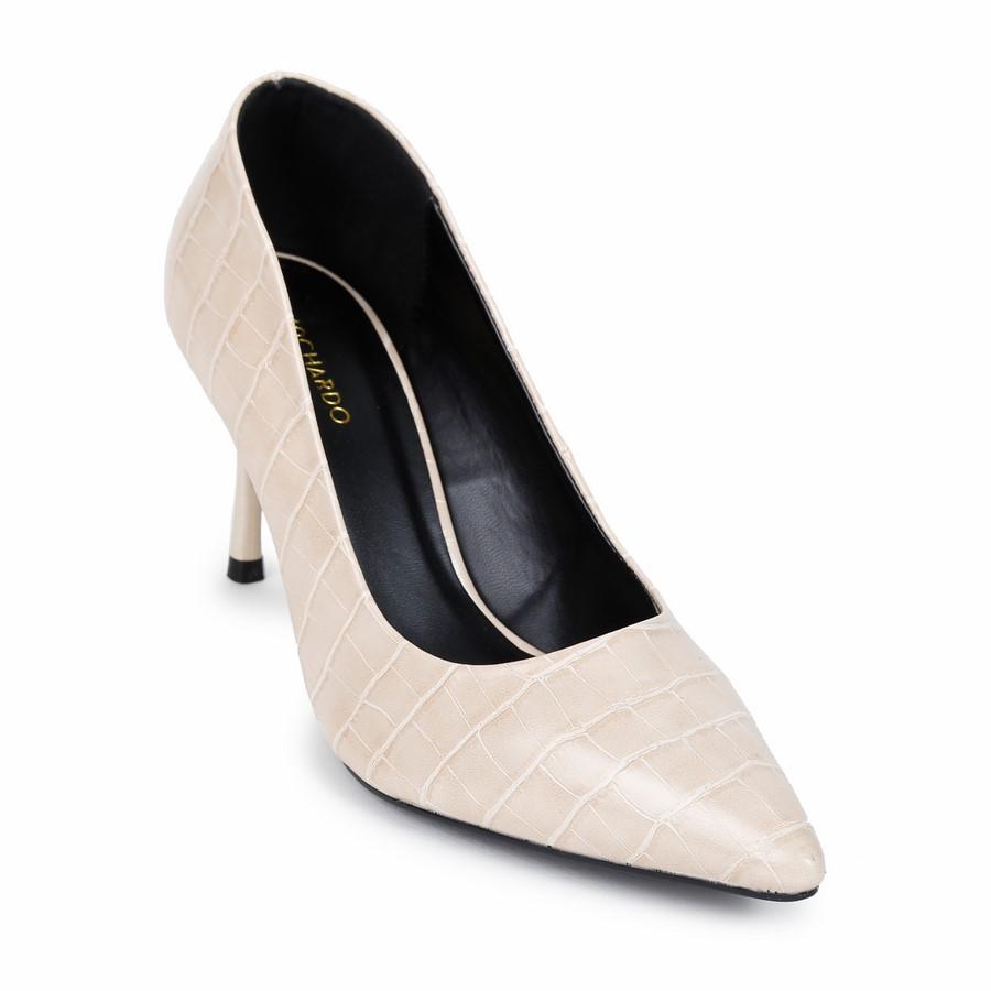 Giày Kiểu Nữ Da Vân VP-5 Kem