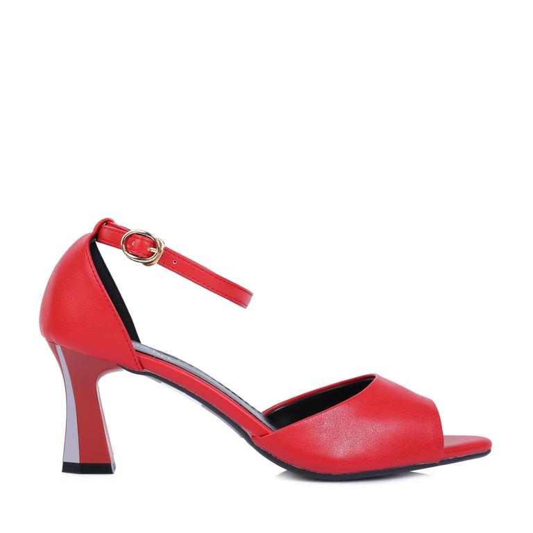 Giày kiểu đế vuông hở mũi RH-06 Đỏ