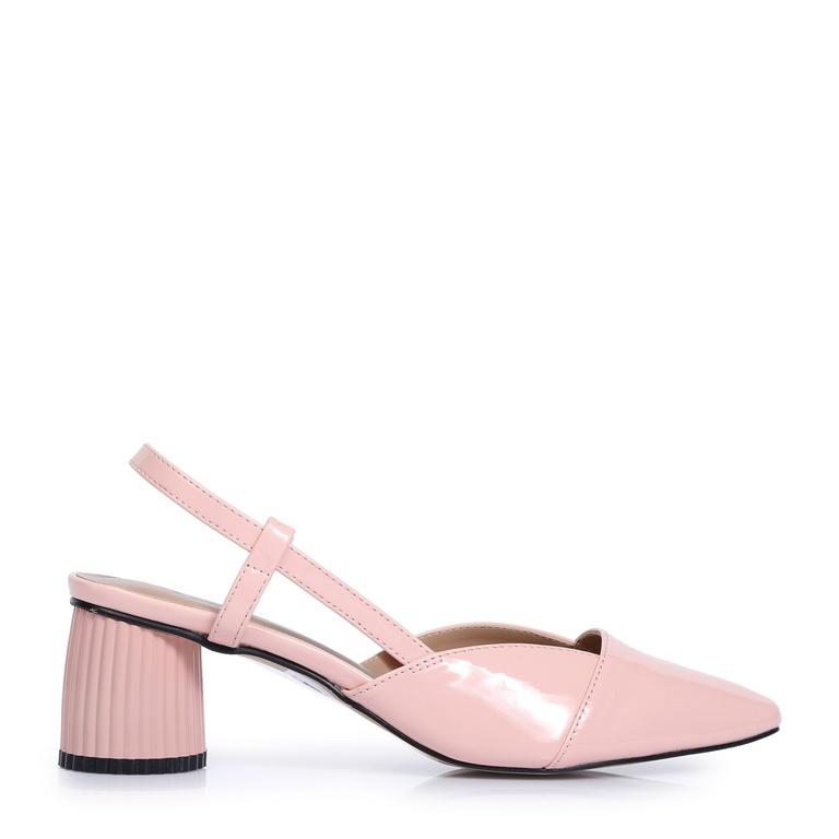 Giày kiểu đế tròn hở gót VM55 Hồng