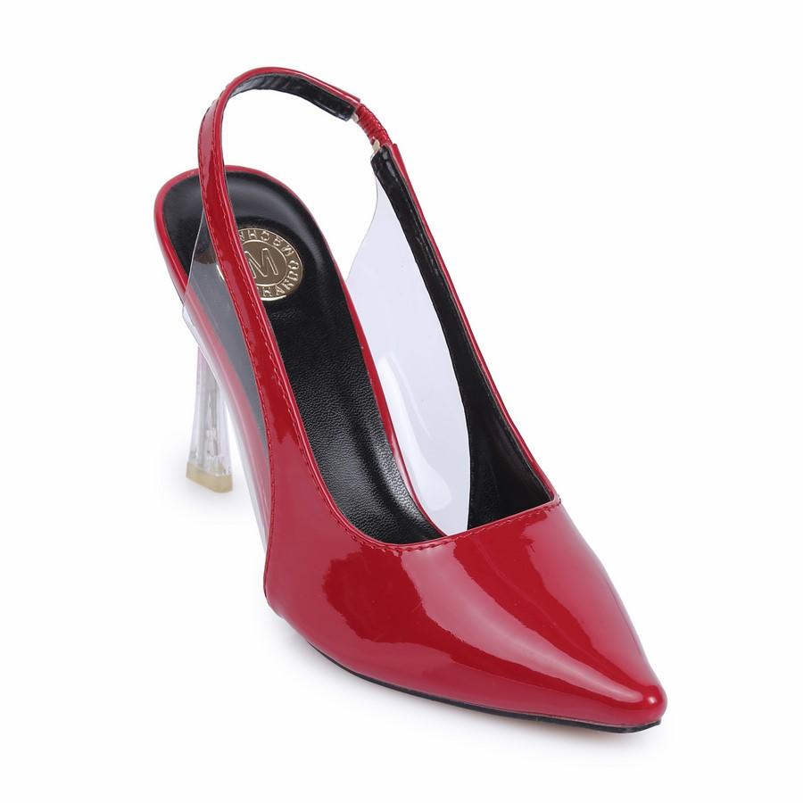 Giày kiểu hở gót mũi nhọn VM70 Đỏ