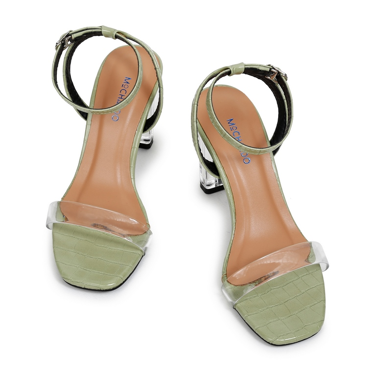 Sandal CG Quai Ngang Trong EL.3 Xanh