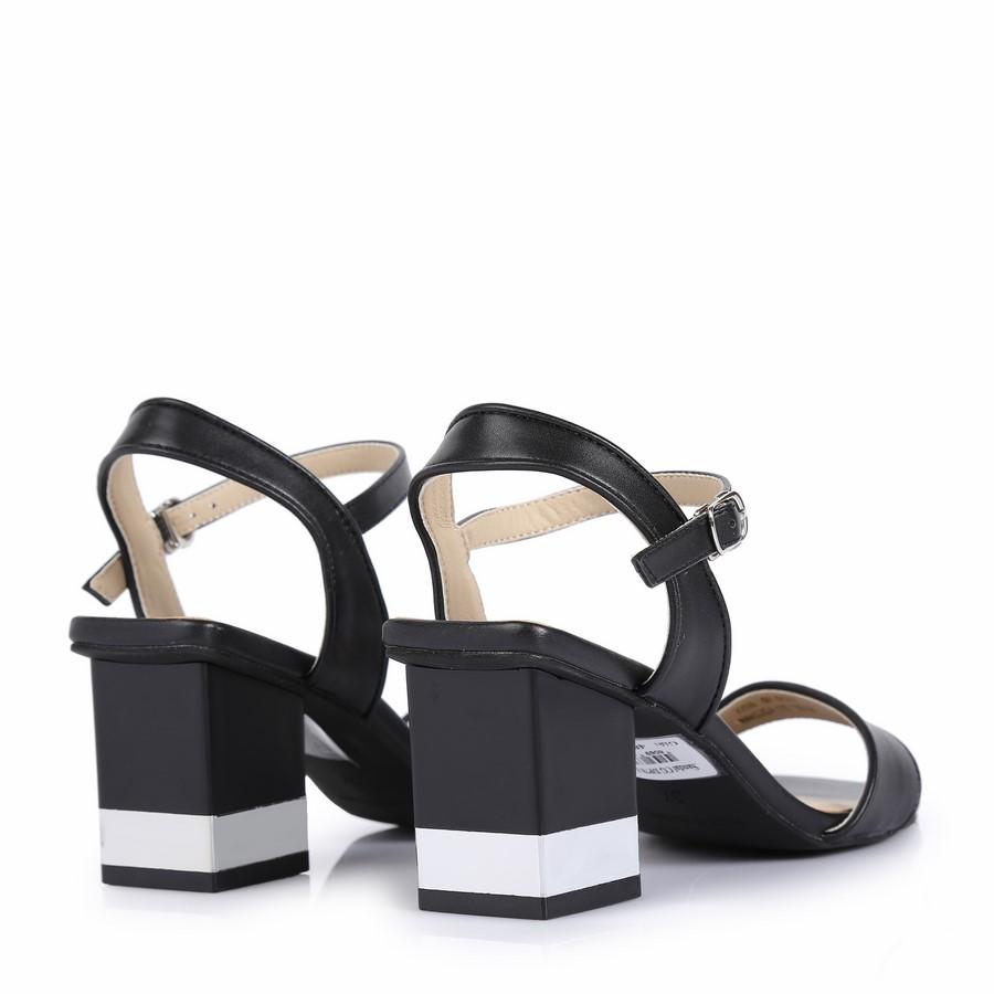 Sandal cao gót đế phối 2 màu DP78 Đen