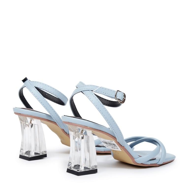 Sandal CG Quai Xoáy Gót Khối EL.13 Xanh