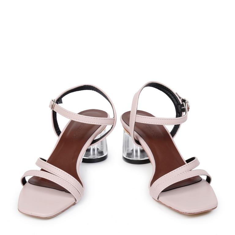 Sandal CG Dây Mảnh Đúp Chéo EL.17 Hồng