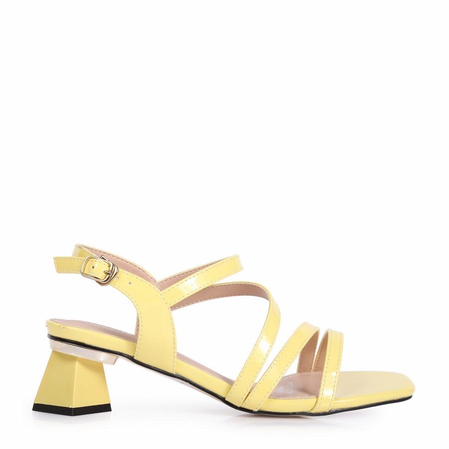 Sandal gót kiểu dây chéo RH-14 Vàng