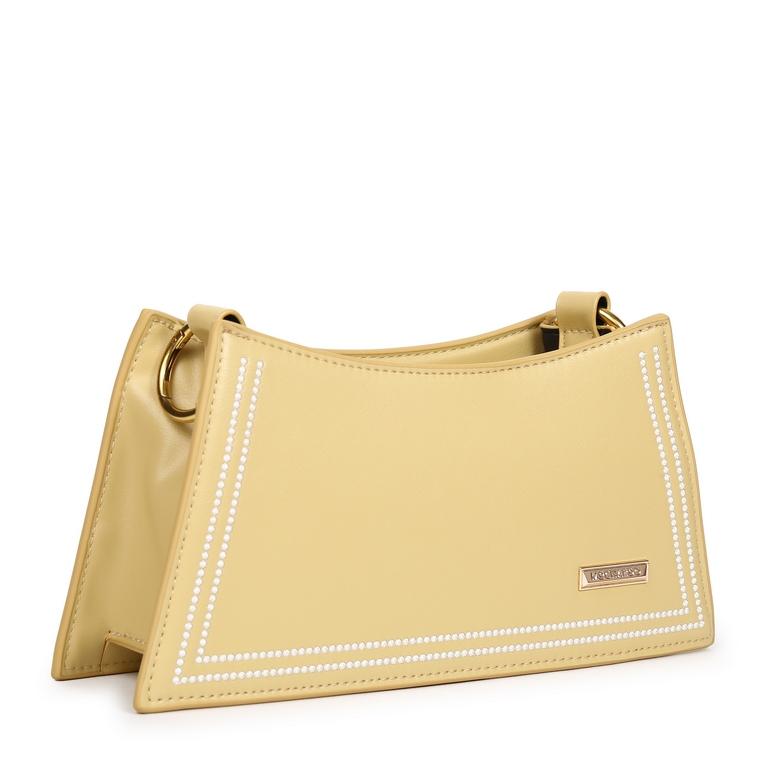 Túi xách dáng kim tự tháp phối viền KQ-16 Vàng