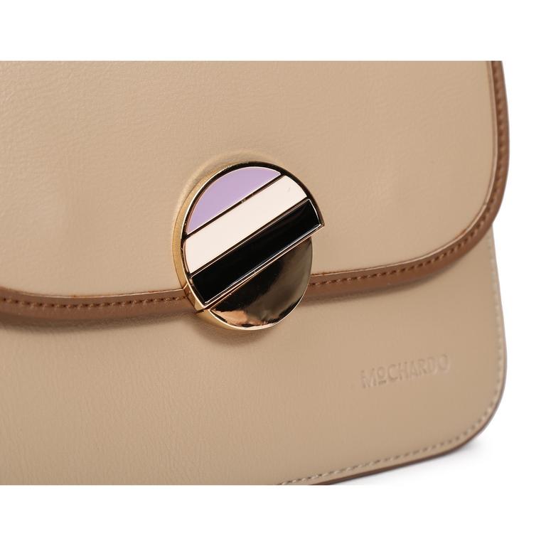 Túi xách mini viền nắp khóa màu KQ-39 Kem