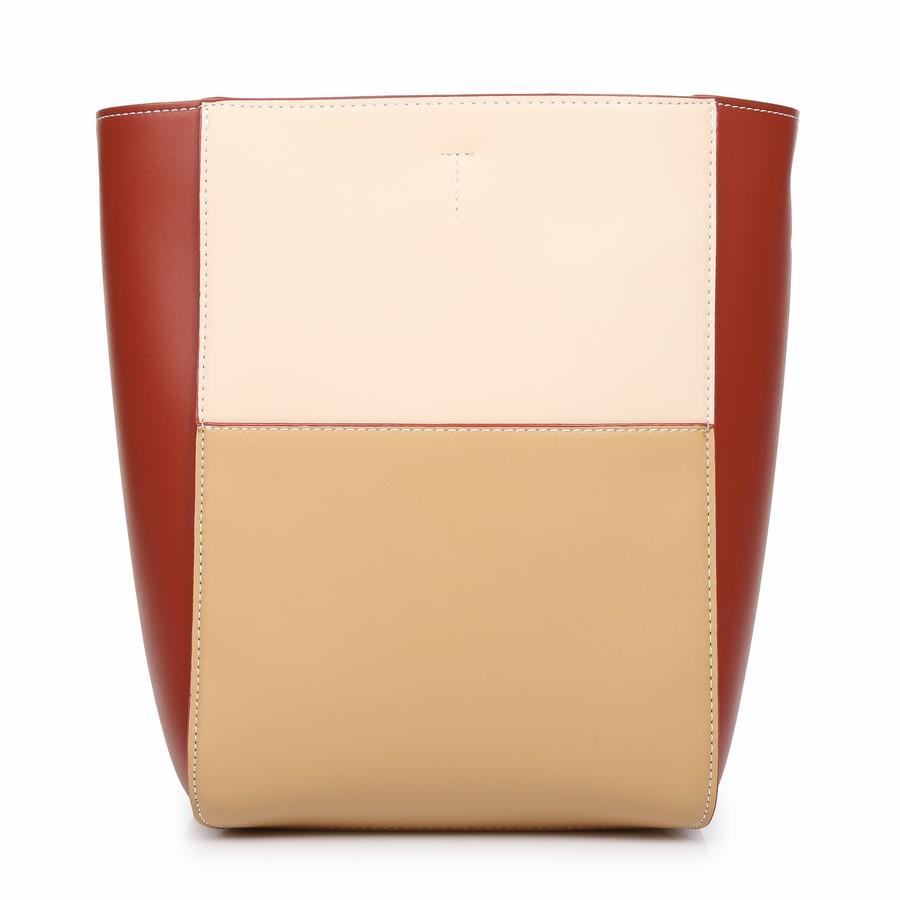 Túi đeo chéo dáng hộp phối ba màu KQ-43 Đỏ