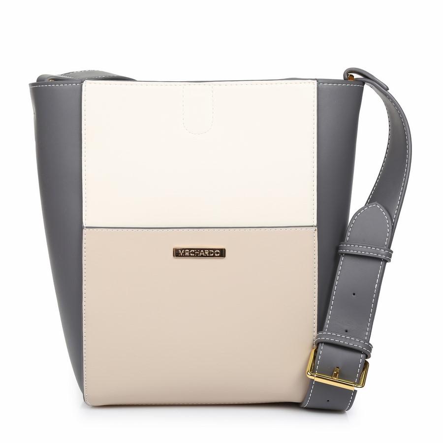 Túi đeo chéo dáng hộp phối ba màu KQ-43 Xám
