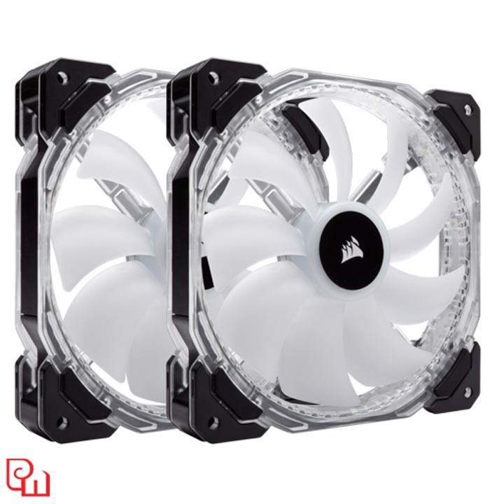 Quạt Case Corsair HD 140 RGB LED 2 Fan + Controller