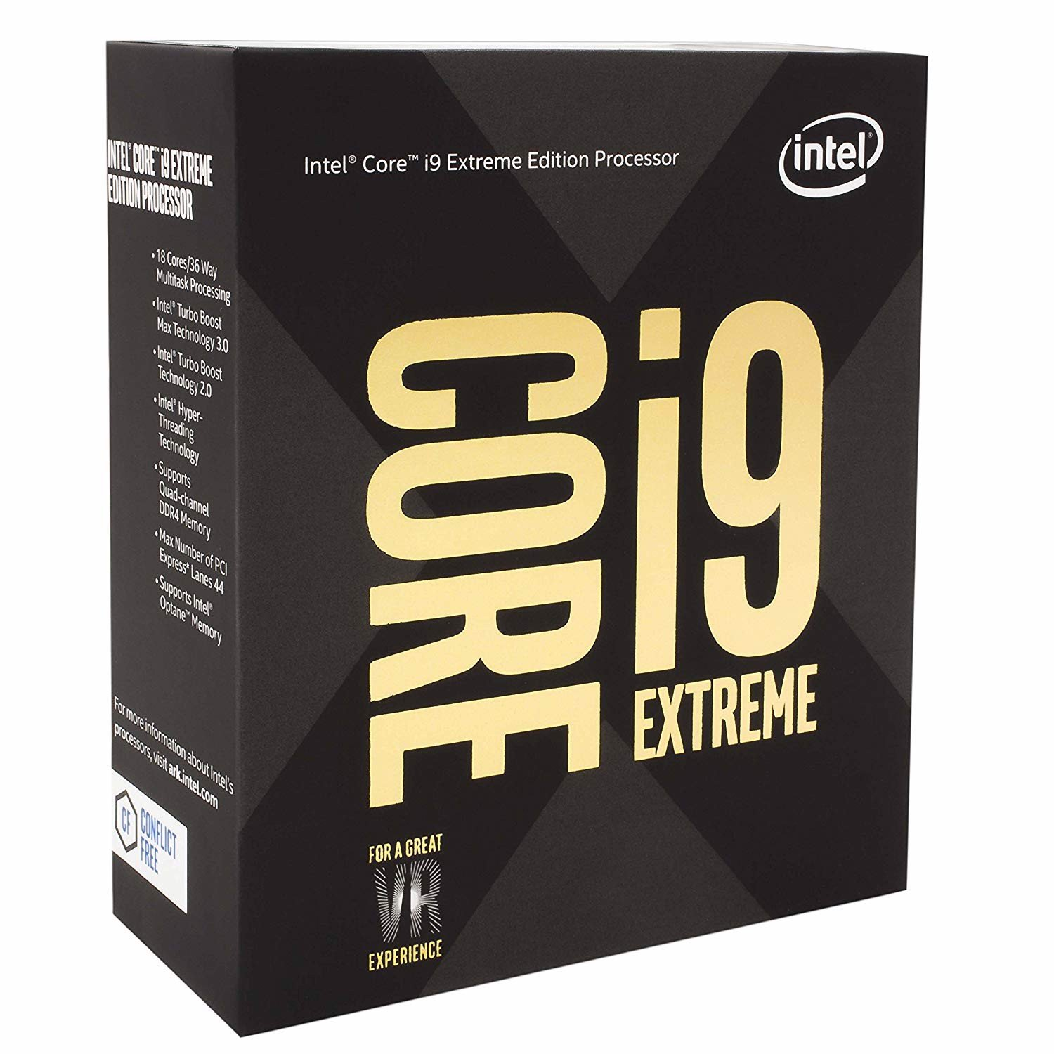 CPU Intel Core i9 7980X Skylake (2.60GHz)