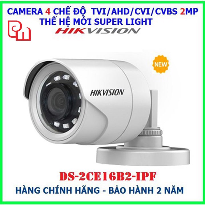 Camera quan sát Hikvision DS-2CE16B2-IPF HD TVI 2MP